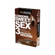 ПРЕЗЕРВАТИВЫ DOMINO SWEET SEX CHOCOLATE MOUSSE 3шт